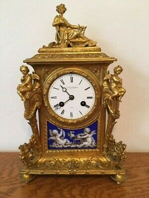Antique French Ormolu Mantle Clock