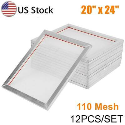 "20/""x24/"" 380 Yellow Hi Tension Mesh Professional Aluminum Screen Printing Frame"