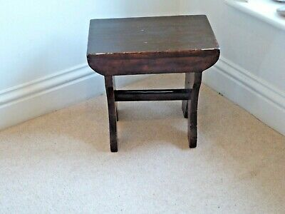 Vintage Wooden Milking Stool or Small Table