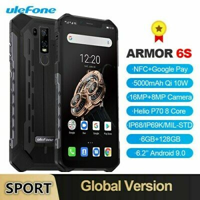 """6.2"""" Ulefone Armor 6S IP68 RUGGED Android 9.0 6GB 128GB Smartphone CELLULARE NFC"""