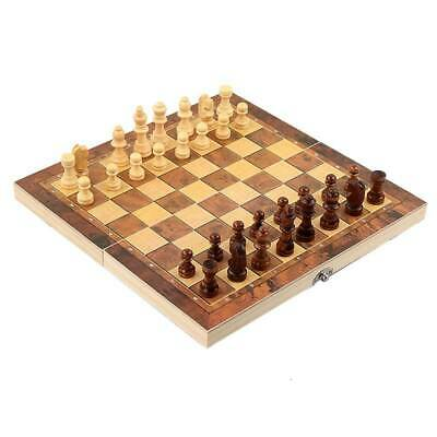 Folding Wooden Chess Set High Quality Standard Chess Set Chessboard 29*29cm UK