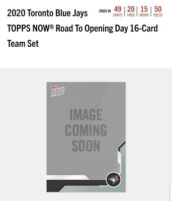Toronto Blue Jays 16 Card Set 2020 Topps NOW Road to Opening Day RTOD Parallel!