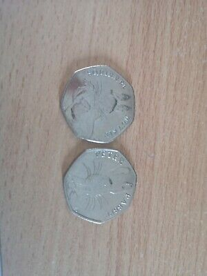 2016 50p Beatrix Potter COIN Peter Rabbit and squirrel nutkin Fifty Pence