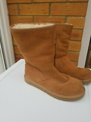 UGG Lil Sunshine Chestnut Suede Zip Kids Ladies Boots 5948 Adult UK Size 5 EU 48