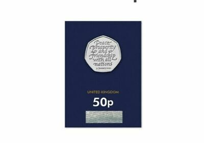 2020 UK WITHDRAWAL FROM EU BREXIT BU MINT SEALED CERTIFIED 50p COIN,