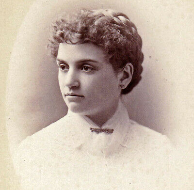 Beautiful Girl from Maine - 1880s Cabinet Photo - Lamson - Portland, ME