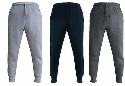 Boys Kids Plain Basic PE School Jogging Sport Tracksuit Bottom Joggers Fleece