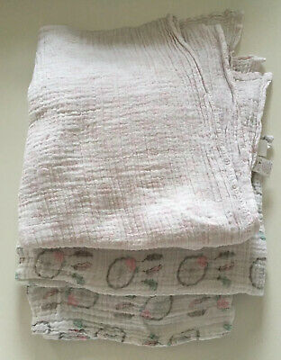 12 x Pink Premium High Quality supersoft Large Muslin Squares100/% cotton,70x70cm