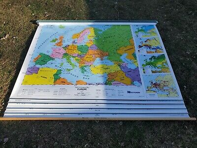Nystrom Eastern Hemisphere Political Pull Down Map