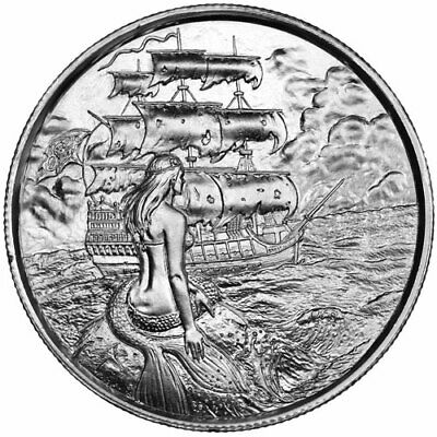 2 oz Elemetal Siren Ultra High Relief Silver Round (Privateer Series #2)