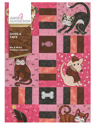 Anita Goodesign Machine Embroidery /Quilting Pattern - Dogs & Cats