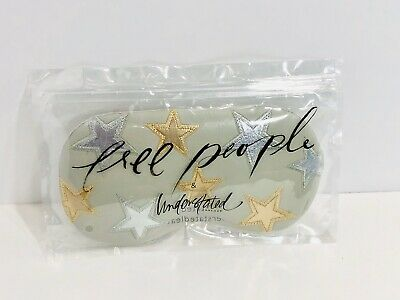 Free People Understated Leather Spa Eye Sleep Mask Starry Eyed Travel Gray 29 99 Picclick