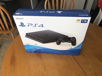 Sony PlayStation 4 Slim 1TB Console - Jet Black
