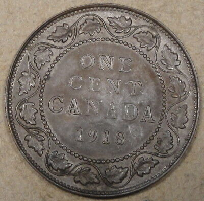 Canada 1918 Large Cent as Pictured