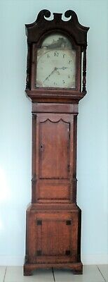Antique Longcase Grandfather Clock By Whiston, Stafford ~ For Restoration