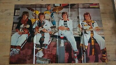 BRAVO 1977 Giant Poster BAY CITY ROLLERS / SWEET