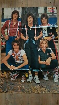 """BRAVO 1976 Giant Poster BAY CITY ROLLERS / STUART """"WOODY"""" WOOD"""