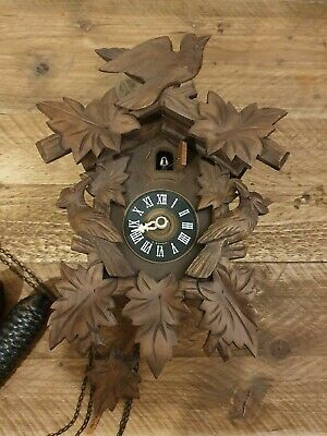 Vintage Black Forest August Schwer Cuckoo Clock FOR PARTS OR REPAIR ONLY