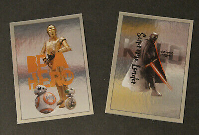 Topps STAR WARS THE RISE OF SKYWALKER MOVIE 2019 > 2x CINEWORLD PROMO Cards #CW