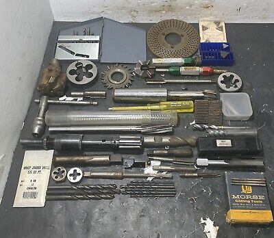 Lot of Machinist Tools Drills Milling Taps End Mill Reamer HSS Lathe Carbide