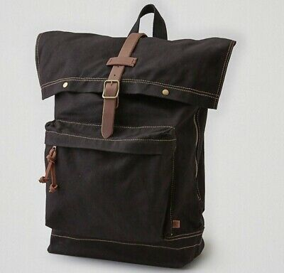 American Eagle Outfitters Olive Waxed Canvas RuckSack Backpack MSRP $49.99UNISEX