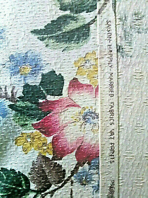 Vintage mid century Happily Married barkcloth cotton fabric curtains drapes!