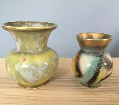 A PAIR OF VERY UNUSUAL SMALL LUSTRE VASES/JUGS APPEAR 1960/70s
