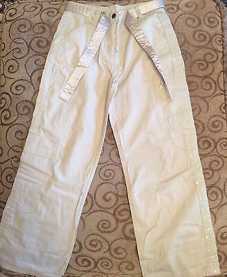 NWOT Next girls Cargo Pants With Belt, Beige, 9yrs