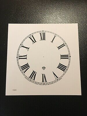 "Antique Clock Parts- Antique Ansonia Clock Dial 5"".Original Cardboard-New-White."
