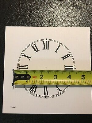 "Antique Clock Parts- Ansonia Clock Dial 4-1/2"". Original Cardboard, New-white."