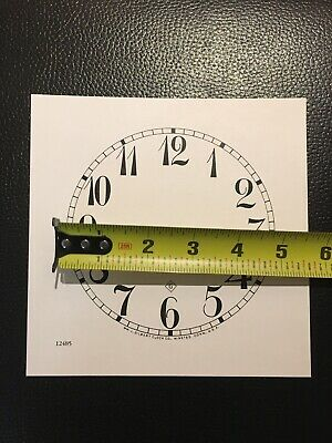 "Antique Clock Parts- Gilbert Clock Dial 5"".Original Cardboard, New, White."