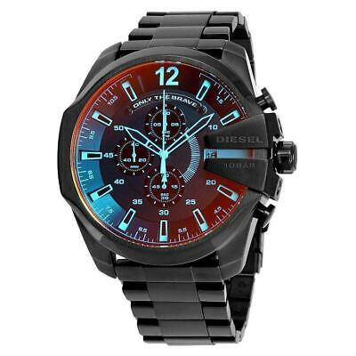 NEW DlESEL DZ4318 NEW Mega Chief Black Ion plated Stainless Steel MEN'S WATCH
