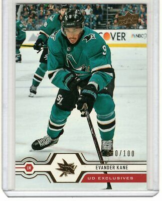 2019-20 Upper Deck Series 1 Evander Kane Ud Exclusives Base 80/100 #162