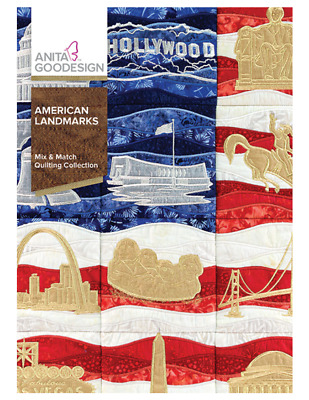 Anita Goodesign Machine Embroidery pattern - American Landmarks