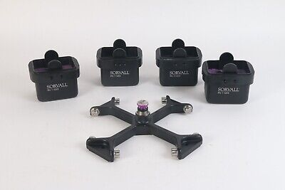 Sorvall 4X 11053 Buckets W/ RTH-250 3800 RPM Centrifuge Swing Rotor