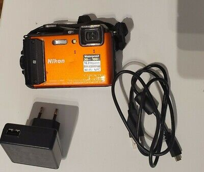 Nikon Coolpix AW130 Shockproof, Waterproof 16 MP Compact Digital Camera - Orange