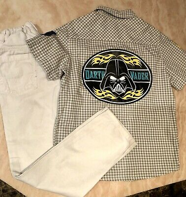 Boys H&M Star Wars Darth Vader Outfit - Jeans and Shirt Set - 7-8 Years