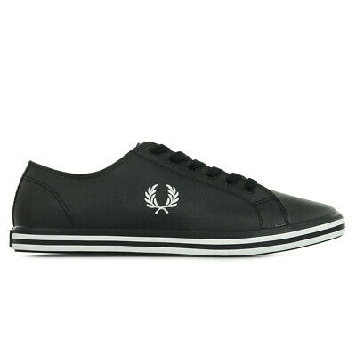 Fred Perry Kingston Leather Black 1964 Gold Schuhe Sneaker Schwarz Weiß Gold