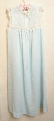 Vintage  Christian Dior Girls Size 8 Flame Resistant Nightgown Blue