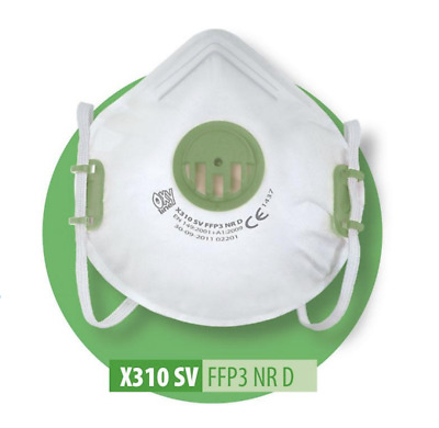 Flu Virus Face Mask FFP3 Valved Safety Breathing Respirator