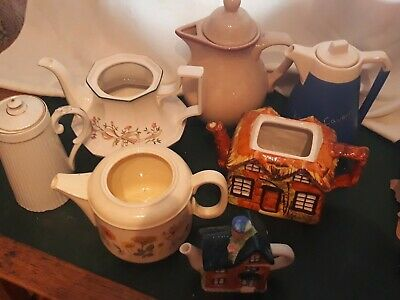 JOB LOT of 8 Mismatched Tea/coffee pots Ideal for Wedding / Afternoon Tea Party