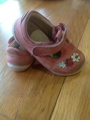 Baby Toddler Girl Clarks Shoes 5.5h 51/2 H