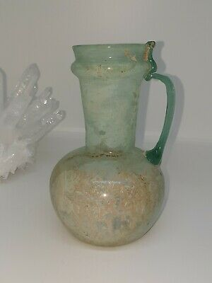 A Very Beautiful Intact Ancient Roman Glass Jug/Vase 100% Authentic