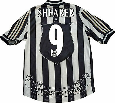 Alan Shearer Newcastle adidas Home Shirt #9 (top) L northern rock climacool 2005