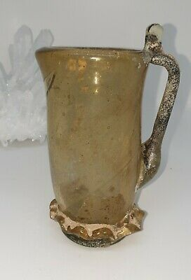 A Very Beautiful Repaired Ancient Roman Glass Jug 100% Authentic