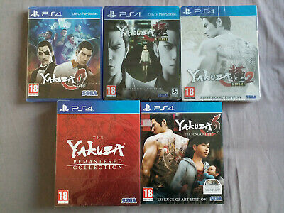 Yakuza PS4 Collection (0 - 6) NEW & SEALED Steelbooks + Limited Editions