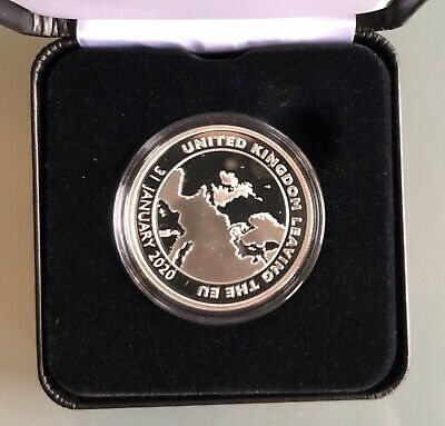 Brexit 2020 Sterling Solid Silver Proof Commemorative Coin Limited Edition 500