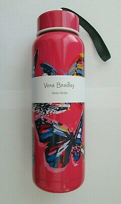 New Nwt Vera Bradley Stainless Steel Bottle Hot & Cold 17 Oz Butterfly Pink