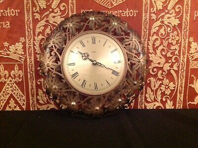 Vintage Metamec Wall Clock, 1960/70's Filigree Brass Retro Floral Fully Working