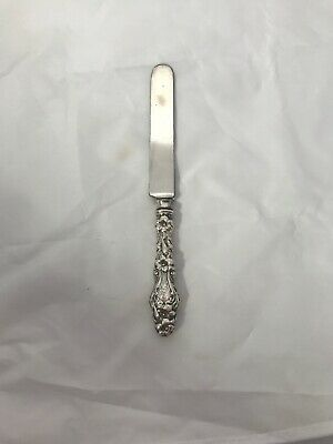Antique Pat 1902 Whiting Sterling Silver Lily Knife 9''